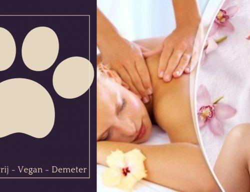 Dierproefvrije cosmetica – Vegan –  Demeter in de massagepraktijk.