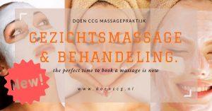 Gezichtsmassage en gezichtsbehandeling